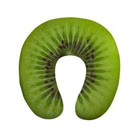 Sweet 3D Green Kiwi Print U-Shape Memory Foam Neck Pillow