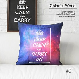 Keep Calm and Carry On Galaxy Space Prints Throw Pillow