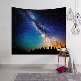 Magical Woods and Galaxy Stars Twinkle Decorative Hanging Wall Tapestry