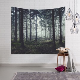 Mysterious Forest and Pine Trees Decorative Hanging Wall Tapestry