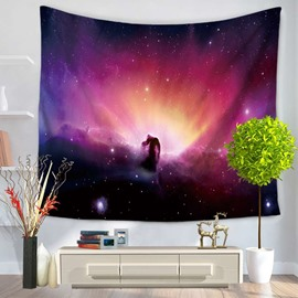 Dreamy Galaxy Stars and Space Decorative Hanging Wall Tapestry