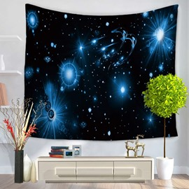 Planets Twinkle and Universe Galaxy Decorative Hanging Wall Tapestry