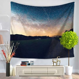 Colorful Sky and Peaceful Straight Path Natural Decorative Hanging Wall tapestry