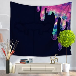 Colorful Water Drop Pattern Bohemia Style Black Decorative Hanging Wall Tapestry