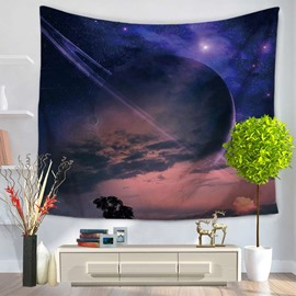 Gorgeous Clouds and Galaxy Space Pattern Decorative Hanging Wall Tapestry