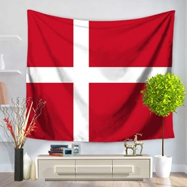 The Kingdom of Denmark Flag Design Decorative Hanging Wall Tapestry
