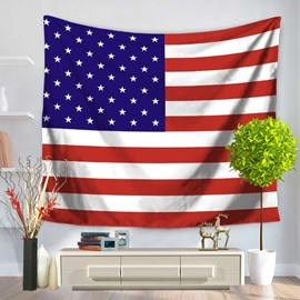 Flag of The United States Design Decorative Hanging Wall Tapestry