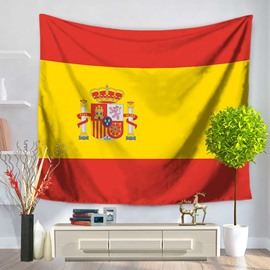 Spanish Flag Design Decorative Hanging Wall Tapestry