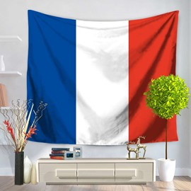 French Flag Design with Three Stripes Decorative Hanging Wall Tapestry