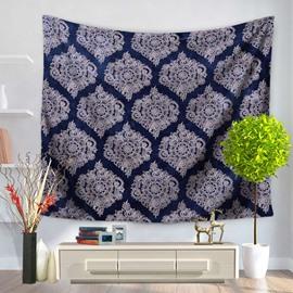 Royalblue Luxuriant Mandala Pattern Ethnic Style Decorative Hanging Wall Tapestry