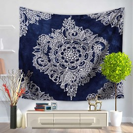Royalblue Mandala Pattern Bohemia Style Decorative Hanging Wall Tapestry