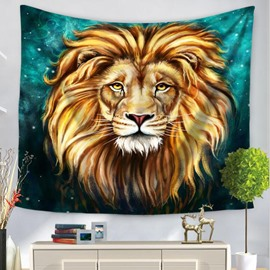 Artful King Animal Golden Lion Pattern Decorative Hanging Wall Tapestry