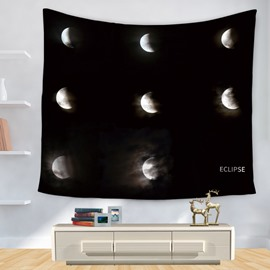 The Persistent Change of Moon Pattern Dark Decorative Hanging Wall Tapestry