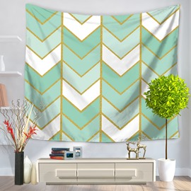 Artful Geometrical Zig Zag Pattern Decorative Hanging Wall Tapestry