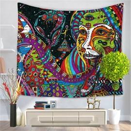 Mandala PsychedelicCreepy Medusa Pattern Decorative Hanging Wall Tapestry