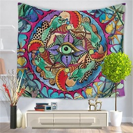 Mandala Psychedelic Eye Abstract Fish Pattern Decorative Hanging Wall Tapestry