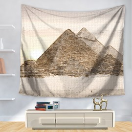 Stick Drawing Abstract Pyramid Decorative Hanging Wall Tapestry