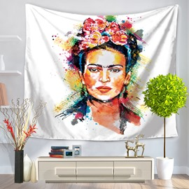 Artwork Frida Kahlo Self-portrait Mexico Latin Style Decorative Hanging Wall Tapestry