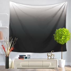 Gradient Pure Ramp Shader Color Black Decorative Hanging Wall Tapestry