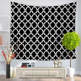 Abstract New Art Black Geometric Pattern Decorative Hanging Wall Tapestry