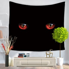 Gloomy Deep Dark Black Eyes Pattern Decorative Hanging Wall Tapestry