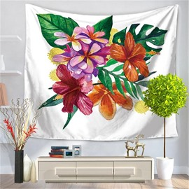 Palm And Floral Exotic Style Nature Artwork Decorative Hanging Wall Tapestry