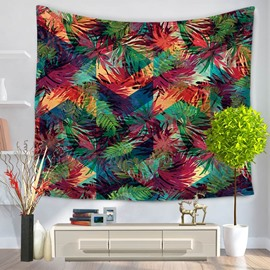 Colorful Beach Towels Banana Leaf Pattern Decorative Hanging Wall Tapestry