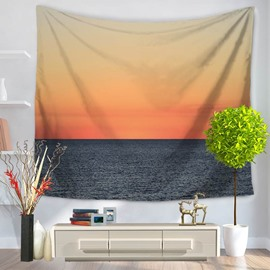 Peaceful Sunset Sea Scenery Nature Pattern Decorative Hanging Wall Tapestry