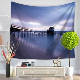 Marvelous Water Villa Seaside Pattern Decorative Hanging Wall Tapestry