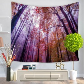 Exclusive Towering Trees From Below Pattern Decorative Hanging Wall Tapestry