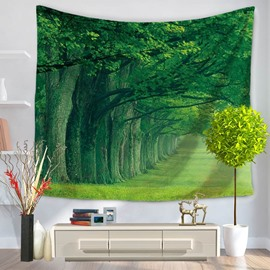 Green Thick Tree Shade Pattern Decorative Hanging Wall Tapestry