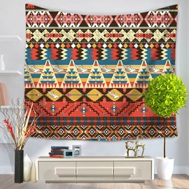 Psychedelic Mandala Indian Pattern Ethnic Style Decorative Hanging Wall Tapestry