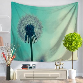 Dandelion with Light Blue Bottom Color Decorative Hanging Wall Tapestry