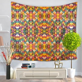Hippy Mandala Indian Pattern Ethnic Style Decorative Hanging Wall Tapestry