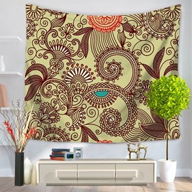 Hippy Mandala Bohemian Indian Pattern Ethnic Style Decorative Hanging Wall Tapestry