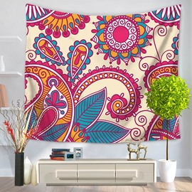 Pink Hippy Mandala Bohemian Indian Pattern Ethnic Style Decorative Hanging Wall Tapestry