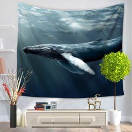 Long Shark Swim through the Ocean Pattern Decorative Hanging Wall Tapestry