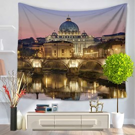 Italy's Famous City Venice Scenery Pattern Decorative Hanging Wall Tapestry