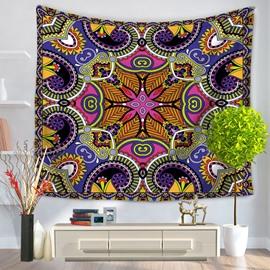 Symmetric Mandala Pattern Exotic Style Decorative Hanging Wall Tapestry