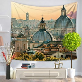 Ancient Rome City Pattern Vintage Style Decorative Hanging Wall Tapestry