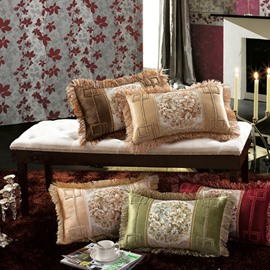 Tassel Luxury Embroidery High Quality Colorful Pillowcases
