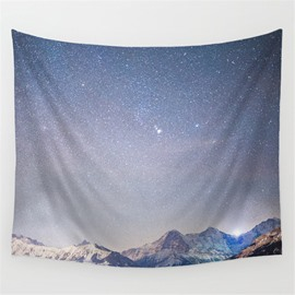 Dawn Galaxy Stars Twinkle and Mountain Climax Pattern Decorative Hanging Wall Tapestry