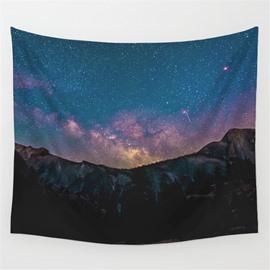 Galaxy Twinkle Stars Dark Night Pattern Decorative Hanging Wall Tapestry