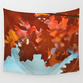 Branches of Yellow Maple Leaves Pattern Decorative Hanging Wall Tapestry