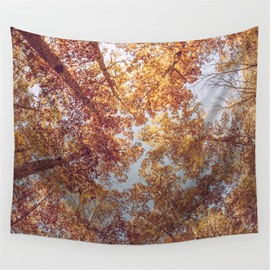 Thick Redwoods and Sky Pattern Decorative Hanging Wall Tapestry