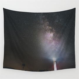 Galaxy Space and Guiding Light Pattern Decorative Hanging Wall Tapestry