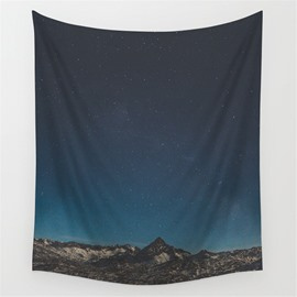 Vast Galaxy Space and Peaceful Field Decorative Hanging Wall Tapestry