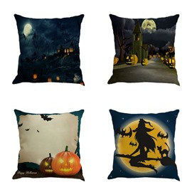 Happy Halloween Carnival Decorative Square Throw Pillow