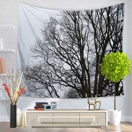 Bald Branches in Cold Winter Pattern Decorative Hanging Wall Tapestry