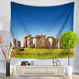 England Stonehenge and Blue Sky Decorative Hanging Wall Tapestry